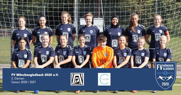 FV Mönchengladbach 2020 - 2. Damen - Teamfoto - Saison 2020-2021