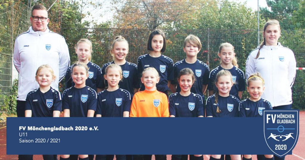 U11 FV Mönchengladbach 2020 e.V. - Mannschaftsfoto - Saison 2020 2021