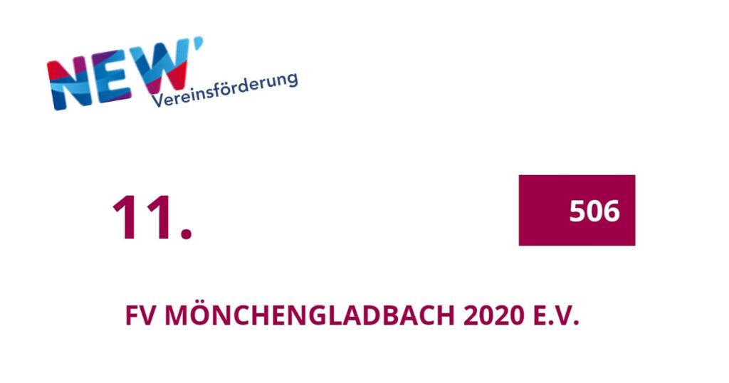 NEW Vereinsförderung - Ergebnis - FV Mönchengladbach 2020 eV