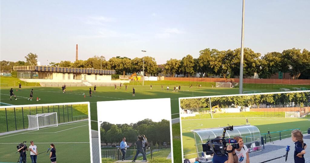 1. offizielles Training der 1. Damen des FV Mönchengladbach am Campuspark Rheydt